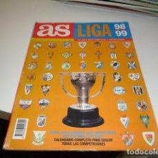 Collectionnisme sportif: REVISTA AS DE FUTBOL EXTRA LIGA 98 99 1998 1999 . Lote 86494176