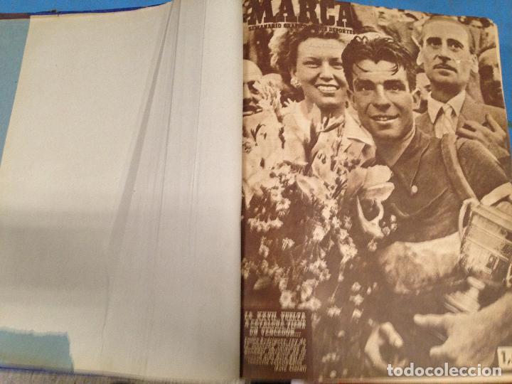 ANTIGUO TOMO PERIODICO DEPORTIVO SEMANARIO MARCA DESDE SEPTIEMBRE 1947 HASTA AGOSTO 1948 (Coleccionismo Deportivo - Revistas y Periódicos - Marca)