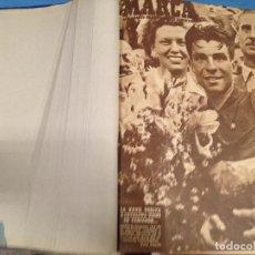 Coleccionismo deportivo: ANTIGUO TOMO PERIODICO DEPORTIVO SEMANARIO MARCA DESDE SEPTIEMBRE 1947 HASTA AGOSTO 1948. Lote 86574056