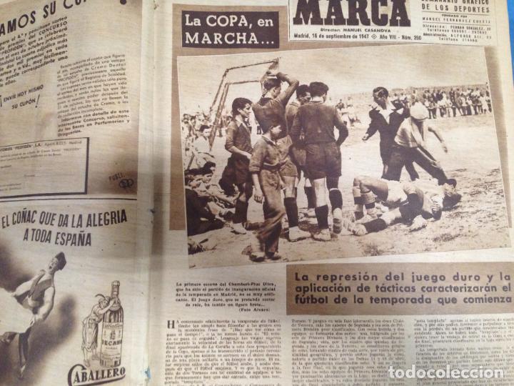 Coleccionismo deportivo: ANTIGUO TOMO PERIODICO DEPORTIVO SEMANARIO MARCA DESDE SEPTIEMBRE 1947 HASTA AGOSTO 1948 - Foto 2 - 86574056