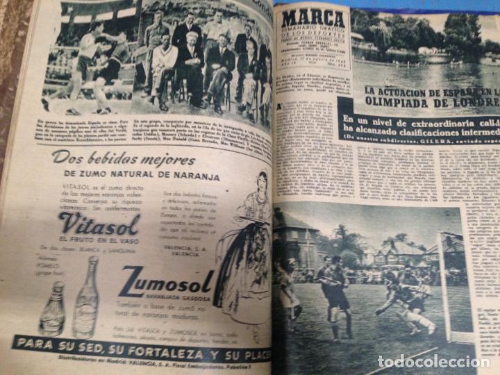 Coleccionismo deportivo: ANTIGUO TOMO PERIODICO DEPORTIVO SEMANARIO MARCA DESDE SEPTIEMBRE 1947 HASTA AGOSTO 1948 - Foto 3 - 86574056