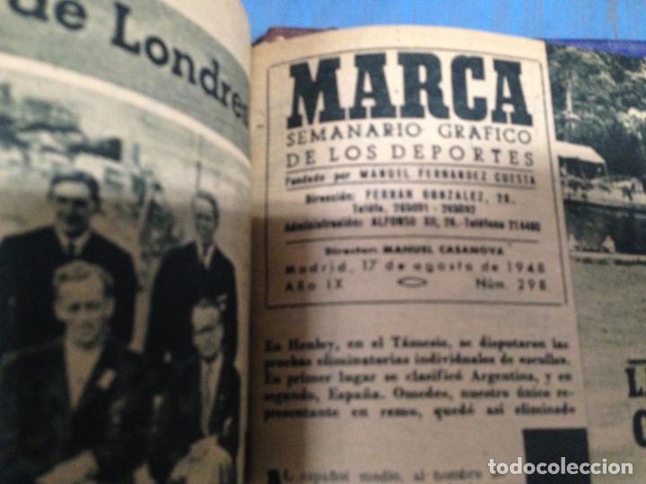Coleccionismo deportivo: ANTIGUO TOMO PERIODICO DEPORTIVO SEMANARIO MARCA DESDE SEPTIEMBRE 1947 HASTA AGOSTO 1948 - Foto 4 - 86574056