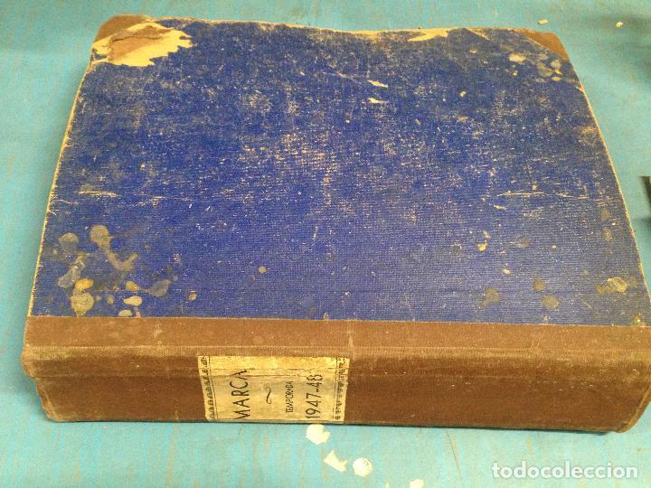 Coleccionismo deportivo: ANTIGUO TOMO PERIODICO DEPORTIVO SEMANARIO MARCA DESDE SEPTIEMBRE 1947 HASTA AGOSTO 1948 - Foto 6 - 86574056