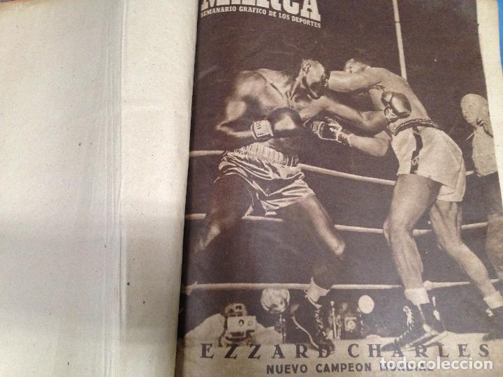 ANTIGUO TOMO PERIODICO DEPORTIVO SEMANARIO MARCA DESDE JUNIO 1949 HASTA AGOSTO 1950 (Coleccionismo Deportivo - Revistas y Periódicos - Marca)
