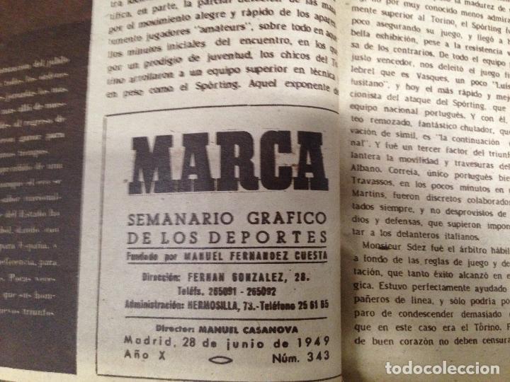 Coleccionismo deportivo: ANTIGUO TOMO PERIODICO DEPORTIVO SEMANARIO MARCA DESDE JUNIO 1949 HASTA AGOSTO 1950 - Foto 2 - 86574488