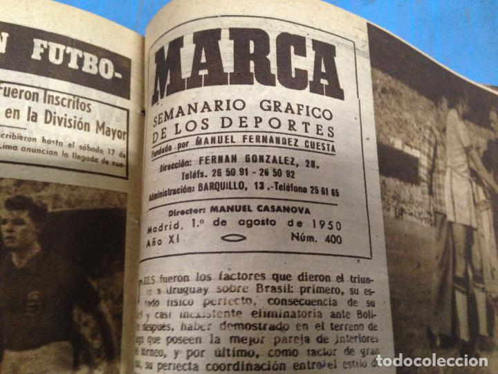 Coleccionismo deportivo: ANTIGUO TOMO PERIODICO DEPORTIVO SEMANARIO MARCA DESDE JUNIO 1949 HASTA AGOSTO 1950 - Foto 3 - 86574488
