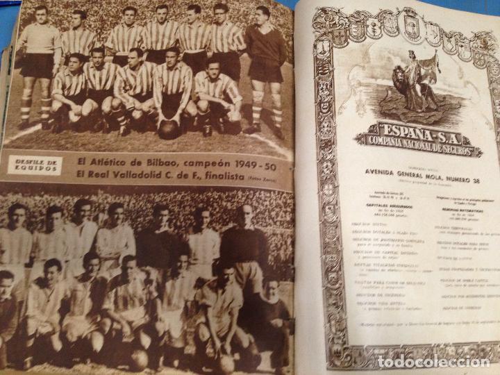 Coleccionismo deportivo: ANTIGUO TOMO PERIODICO DEPORTIVO SEMANARIO MARCA DESDE JUNIO 1949 HASTA AGOSTO 1950 - Foto 4 - 86574488