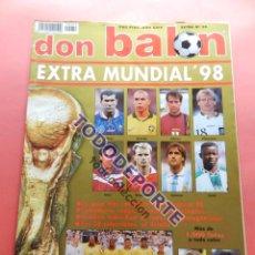 Coleccionismo deportivo: EXTRA DON BALON MUNDIAL FRANCIA 98 - REVISTA ESPECIAL GUIA FUTBOL - GUIDE WORLD CUP WC FRANCE 1998. Lote 86599768