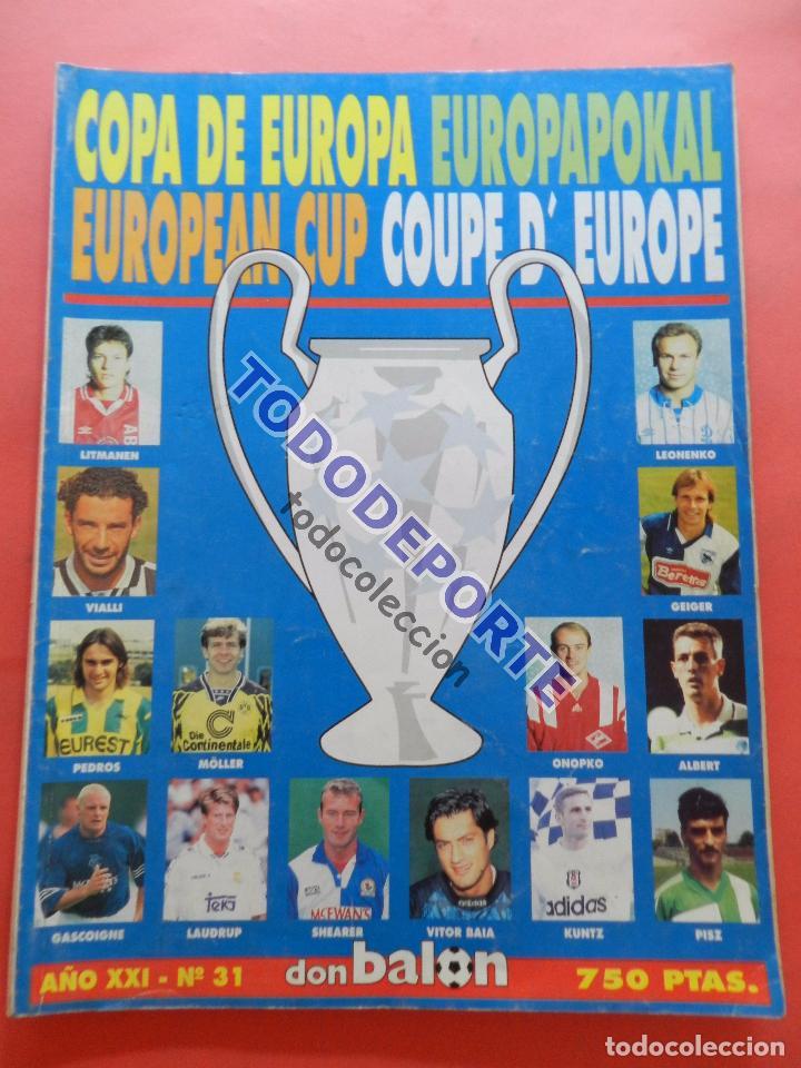 REVISTA EXTRA COPAS EUROPEAS 1995-1996 GUIA DON BALON COPA DE EUROPA 95/96 CHAMPIONS LEAGUE GUIDE (Coleccionismo Deportivo - Revistas y Periódicos - Don Balón)