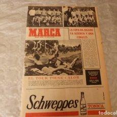 Colecionismo desportivo: SUPLEM.MARCA(1-7-65)PROX.FINAL COPA AT.MADRID-REAL ZARAGOZA!!!ATH.CLUB BILBAO EQUIPO MAS COPERO.. Lote 182268443