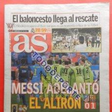 Coleccionismo deportivo: DIARIO AS FC BARCELONA CAMPEON LIGA 14/15 BARÇA - REAL MADRID NOVENA COPA EUROPA BASKET 2014-2015. Lote 158717686