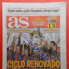 Coleccionismo deportivo: DIARIO AS FC BARCELONA CAMPEON CHAMPIONS LEAGUE 14/15 BARÇA COPA EUROPA 2014-2015 JUVENTUS TRIPLETE. Lote 86845976