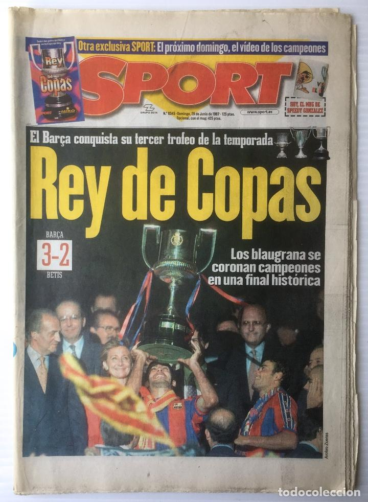 DIARIO SPORT. Nº 6345. 29 JUNIO 1997. REY DE COPAS. BARÇA. FUTBOL CLUB BARCELONA (Coleccionismo Deportivo - Revistas y Periódicos - Sport)