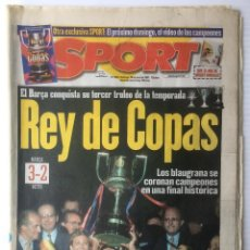 Coleccionismo deportivo: DIARIO SPORT. Nº 6345. 29 JUNIO 1997. REY DE COPAS. BARÇA. FUTBOL CLUB BARCELONA. Lote 87050884