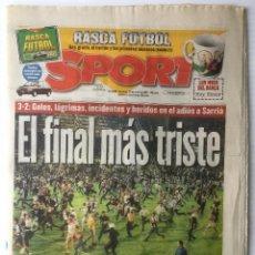 Coleccionismo deportivo: DIARIO SPORT. Nº 6338. 22 JUNIO 1997. EL FINAL MÁS TRISTE. BARÇA. FUTBOL CLUB BARCELONA. Lote 87051668
