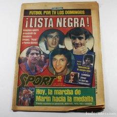 Coleccionismo deportivo: SPORT Nº 1694 3 AGOSTO 184, LISTA NEGRA DE VENABLES,M MARIN HACIA LA MEDALLA. Lote 87071488