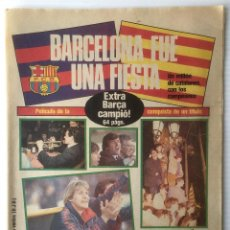 Coleccionismo deportivo: DIARIO SPORT. Nº 1931. 26 MARZO 1985. BARCELONA FUE UNA FIESTA. FUTBOL CLUB BARCELONA. . Lote 87071652