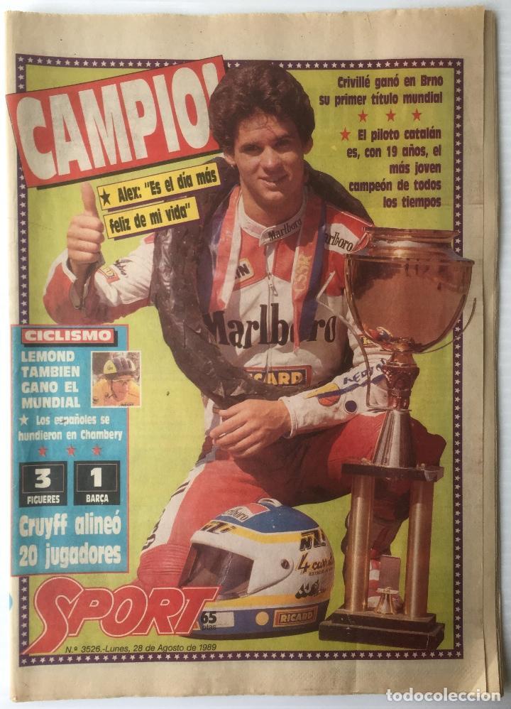 DIARIO SPORT. Nº 3526. 28 AGOSTO 1989. CAMPIO!. BARÇA. FUTBOL CLUB BARCELONA (Coleccionismo Deportivo - Revistas y Periódicos - Sport)