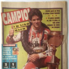 Coleccionismo deportivo: DIARIO SPORT. Nº 3526. 28 AGOSTO 1989. CAMPIO!. BARÇA. FUTBOL CLUB BARCELONA. Lote 87075064