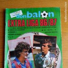 Coleccionismo deportivo: REVISTA DE FUTBOL DON BALON EXTRA Nº 11 LIGA CONTIENE POSTER CALENDARIO 1ª DIVISION 1986 1987 86 87. Lote 87091924