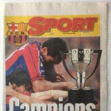 Coleccionismo deportivo: DIARIO SPORT. 18 ABRIL 1998. CAMPIONS. BARÇA. F. C. BARCELONA. Lote 87248792