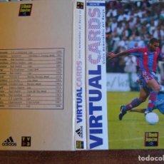Coleccionismo deportivo: ALBÚM FICHERO 16 VIRTUAL CARDS GOLES MEMORABLES DEL BARCA COLECCIÓN 1997. Lote 88108620
