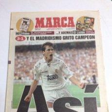Coleccionismo deportivo: DIARIO MARCA REAL MADRID CAMPEÓN DE LIGA 1997. Lote 88816414