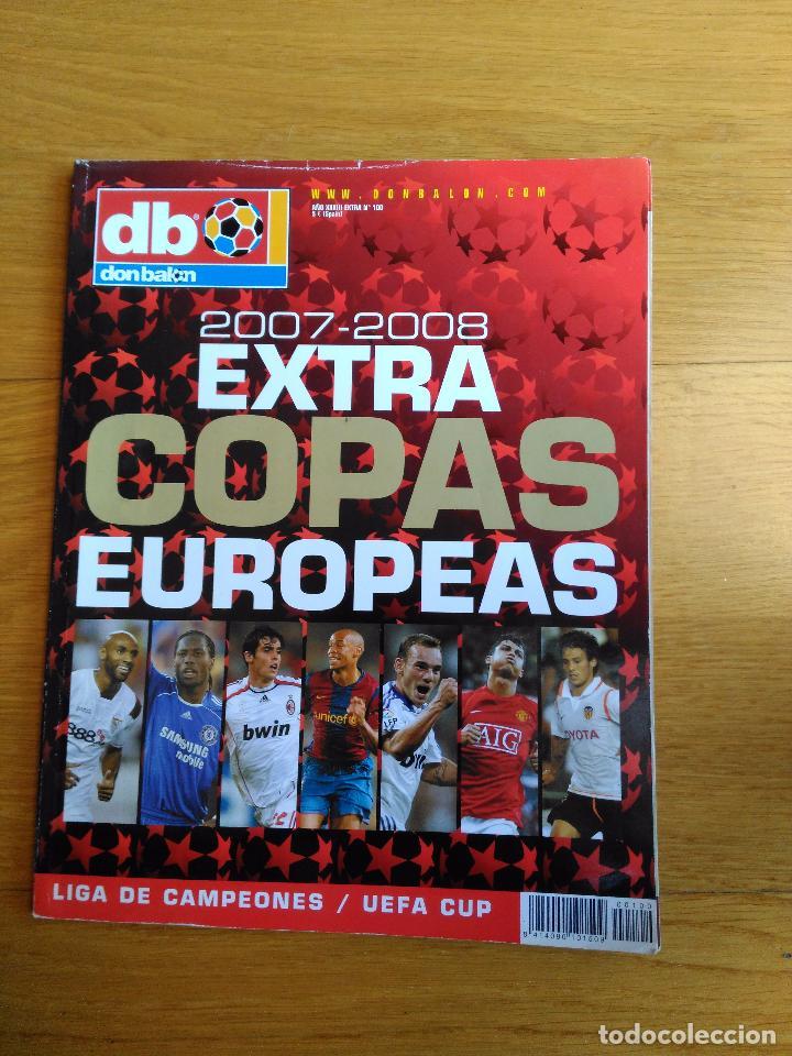 REVISTA DON BALON EXTRA COPAS EUROPEAS NUMERO 100 AÑO 2007 2008 07 08 (Coleccionismo Deportivo - Revistas y Periódicos - Don Balón)