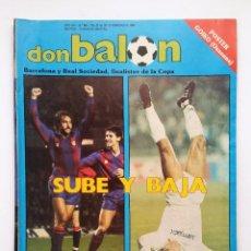 Coleccionismo deportivo: DON BALON 645 - POSTER GOICOETXEA (OSASUNA) - BARCELONA Y REAL SOCIEDAD - HOLANDA. Lote 88923896