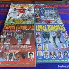 Coleccionismo deportivo: DON BALÓN EXTRA COPAS EUROPEAS 96 97, 2001 02, 2002 2003 Y 2003 2004. MUY BUEN ESTADO.. Lote 88975184