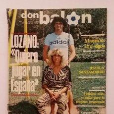 Coleccionismo deportivo: DON BALON 402 LOZANO - SOLSONA - KUBALA - GOMES - LAS PALMAS. Lote 132626005