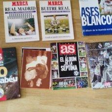 Coleccionismo deportivo: LA FABRICA DE SUEÑOS-ASES BLANCOS-BUITRE REAL-LAS MONEDAS OFICIALES DE LOS GRANDES ASES-CROMOS-ETC. Lote 89590432