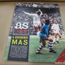 Coleccionismo deportivo: AS 155 MAYO 1974 POSTER ATLETICO MADRID SEMANARIO SEAT 133 132. Lote 89655044