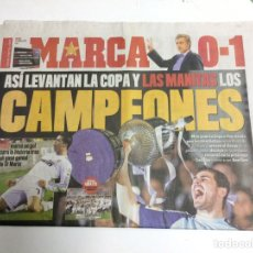 Coleccionismo deportivo: DIARIO MARCA 21 ABRIL 2011 REAL MADRID CAMPEON. Lote 89782778