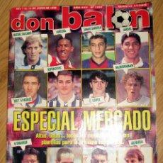 Coleccionismo deportivo: DON BALON DB 1234 ESPECIAL MERCADO FICHAJES 1999 POSTER MALAGA ASCENSO A PRIMERA DIVISION. Lote 89791300
