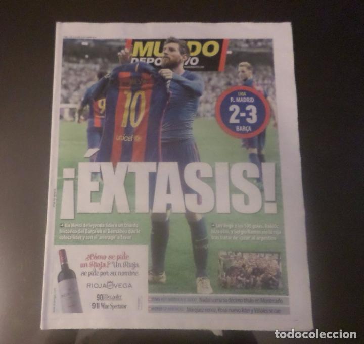 DIARIO PERIÓDICO MUNDO DEPORTIVO 24-04-2017 REAL MADRID BARCELONA 2-3 MESSI 500 GOLES FOTO HISTÓRICA (Coleccionismo Deportivo - Revistas y Periódicos - Mundo Deportivo)
