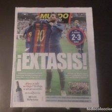 Coleccionismo deportivo: DIARIO PERIÓDICO MUNDO DEPORTIVO 24-04-2017 REAL MADRID BARCELONA 2-3 MESSI 500 GOLES FOTO HISTÓRICA. Lote 152696506