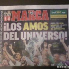 Coleccionismo deportivo: DIARIO PERIÓDICO MARCA 4 JUNIO 2017 REAL MADRID CAMPEÓN EUROPA DUODÉCIMA CARDIFF CHAMPIONS LEAGUE 12. Lote 106724792