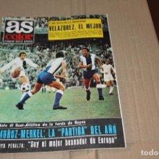 Colecionismo desportivo: AS COLOR Nº 33, CON POSTER CENTRAL DEL REAL OVIEDO 1971-72, AÑO 1972. Lote 90365376