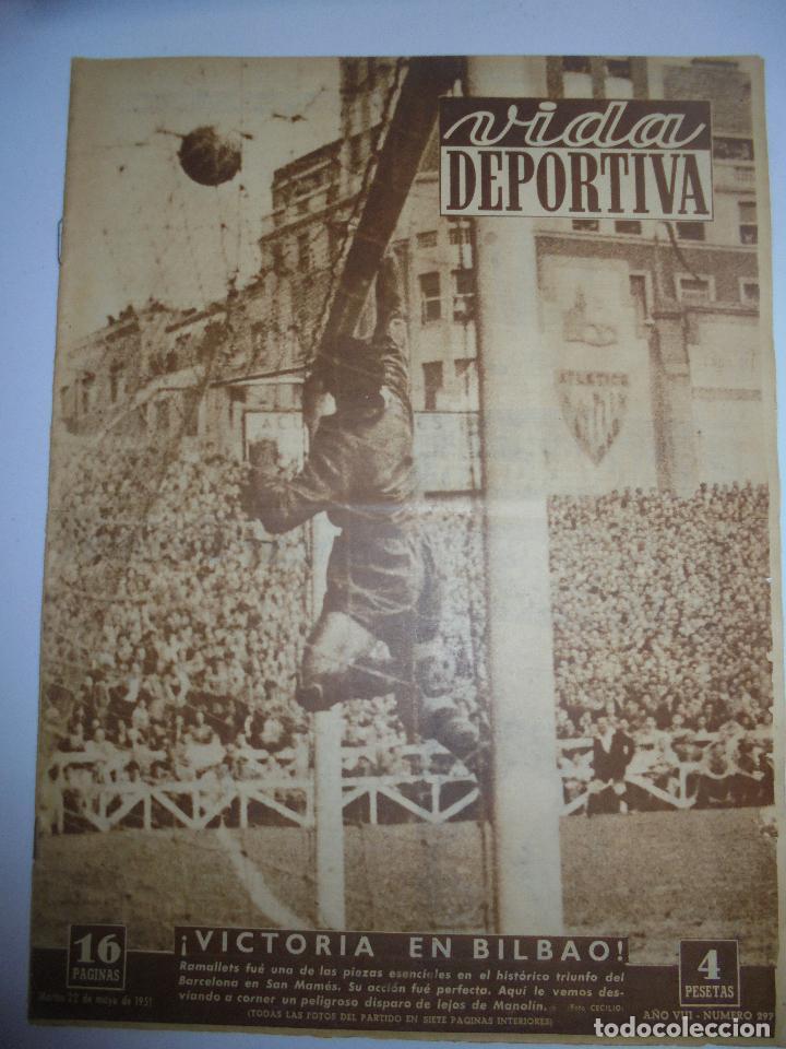 PERIÓDICO VIDA DEPORTIVA. AÑO VIII. NÚMERO 297. MARTES 22 DE MAYO 1951. 16 PAGINAS. 38,5X28,5 CM (Coleccionismo Deportivo - Revistas y Periódicos - Vida Deportiva)