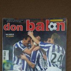 Coleccionismo deportivo: REVISTA DON BALON - MEDIA LIGA PARA LA REAL - FEBRERO 2003 - INCLUYE POSTER VALLADOLID - TDKR36. Lote 90908070