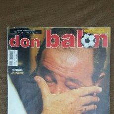 Coleccionismo deportivo: REVISTA DON BALON - ATLETICO - GIL - ENERO 2003 - INCLUYE POSTER ESPAÑOL - TDKR36. Lote 90908215