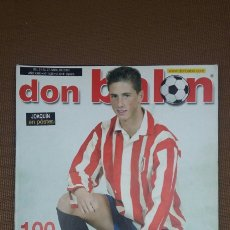 Coleccionismo deportivo: REVISTA DON BALON - PORTADA TORRES ATLETICO - ABRIL 2003 - INCLUYE POSTER JOAQUIN BETIS - TDKR36. Lote 90908505
