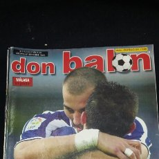 Coleccionismo deportivo: REVISTA DON BALON - LA REAL APRIETA - OCTUBRE 2002- INCLUYE POSTER RACING MALAGA - TDKR36. Lote 90931060