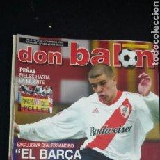 Coleccionismo deportivo: REVISTA DON BALON - ALESSANDRO - OCTUBRE 2002- INCLUYE POSTER ESPAÑA - TDKR36. Lote 90931290