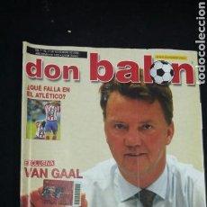 Coleccionismo deportivo: REVISTA DON BALON - VAN GAAL - NOVIEMBRE 2002 - INCLUYE POSTER ALAVES - TDKR36. Lote 90931350