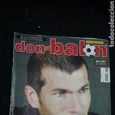 Coleccionismo deportivo: REVISTA DON BALON - ZIDANE - MARZO 2003 - INCLUYE POSTER MALLORCA - TDKR36. Lote 90931375