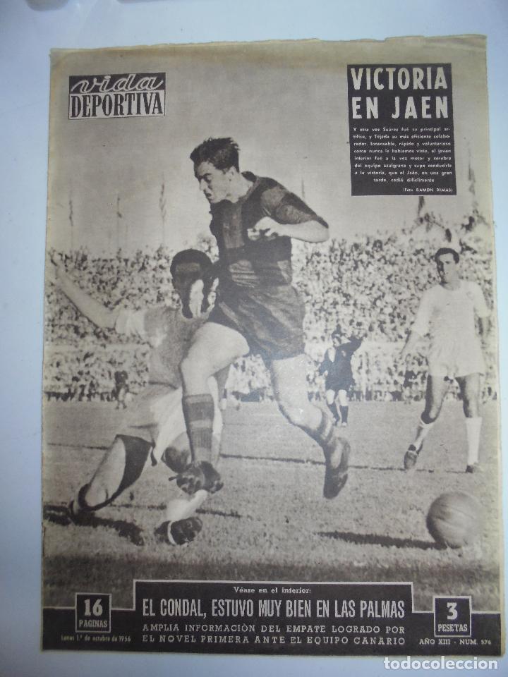 PERIÓDICO VIDA DEPORTIVA. AÑO XIII. NÚMERO 576. LUNES, 1º DE OCTUB DE 1956. 16 PAGS. 38,5X28,5 CM (Coleccionismo Deportivo - Revistas y Periódicos - Vida Deportiva)