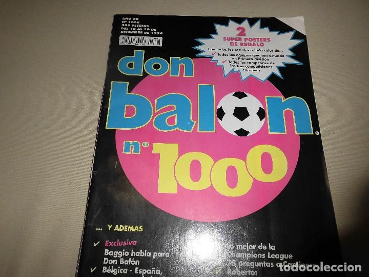 DON BALON Nº 1000 2 SUPER POSTERS (Coleccionismo Deportivo - Revistas y Periódicos - Don Balón)