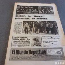 Coleccionismo deportivo: MUNDO DEPORTIVO(19-6-78)MUNDIAL ARGENTINA,JOSP LLUIS NUÑEZ PONE EN MARCHA SU BARÇA TRIOMFANT!!!. Lote 91499385